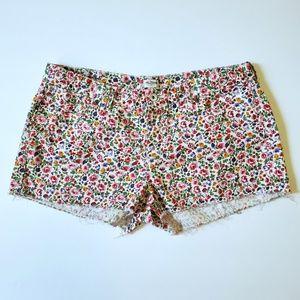 Madewell Denim Cutoff Shorts in Flora Plus Size 32